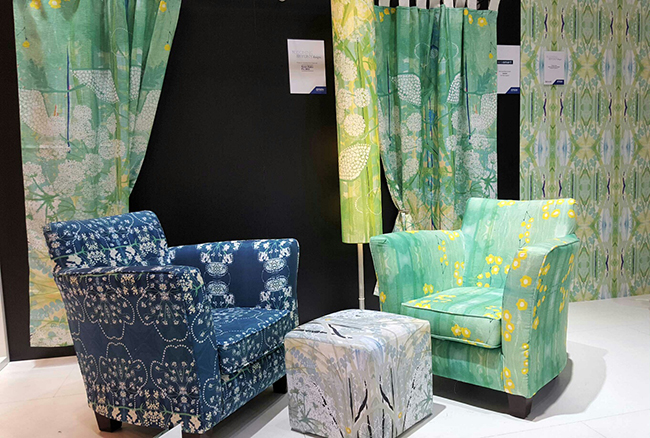 A - Furnishings and wallpaper printed using Epson inkjet printers
